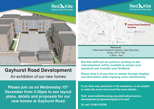 Gayhurst Road development flyer