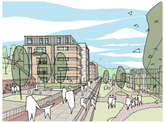 Drawing of the Castlefield plans