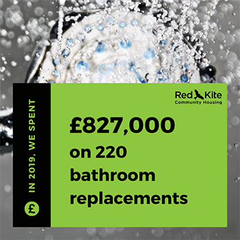 We've spent £827,000 on 220 bathroom replacements