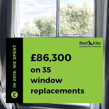 We've spent £86,300 on 35 window replacements